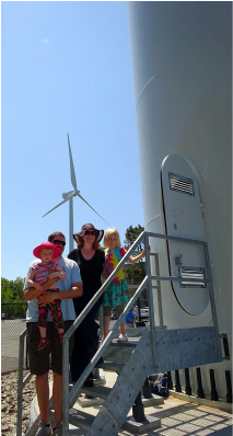 Family at the Gloucester turbines